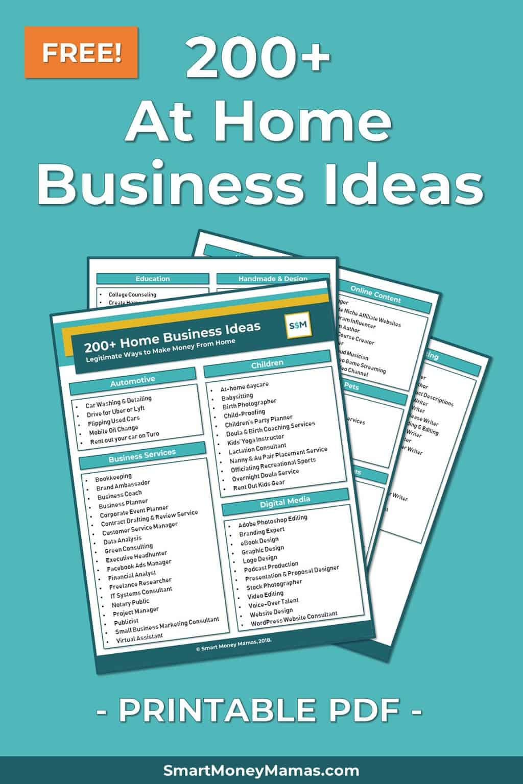 200+ At-Home Business Ideas [FREE Download!]