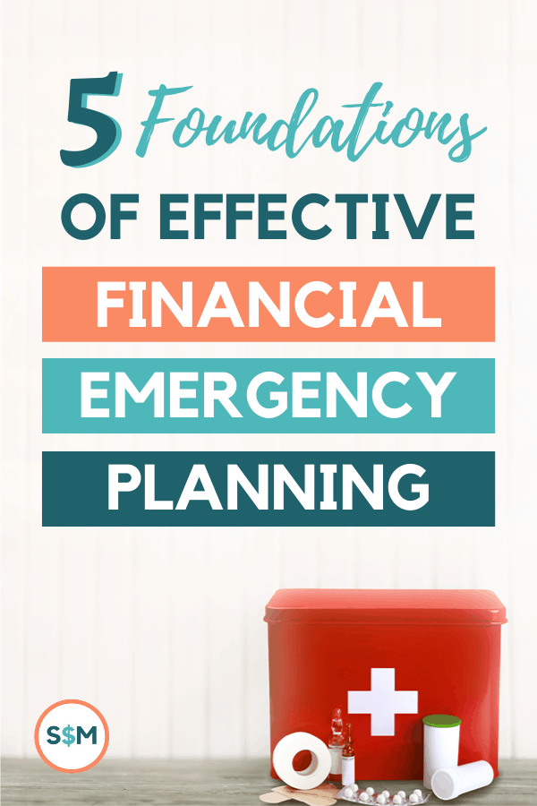 5 Foundations of Effective Financial Emergency Planning pin